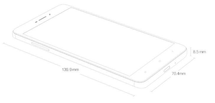 Dimensiones Xiaomi Redmi 4A