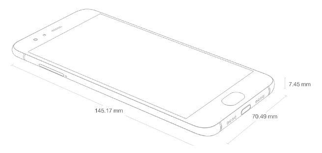 Xiaomi Mi6 dimensiones
