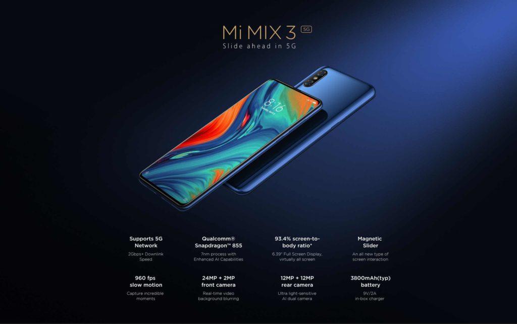 Especificaciones técnicas de Xiaomi Mi Mix 3 5G: