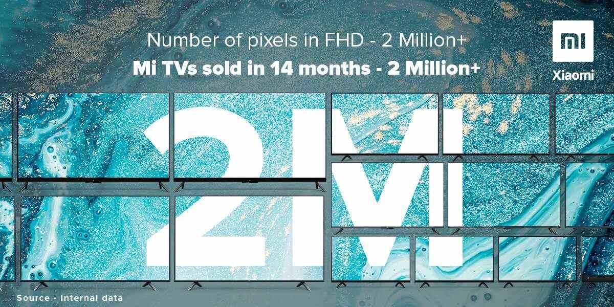 Xiaomi TV envía más de 2 millones de unidades en 14 meses