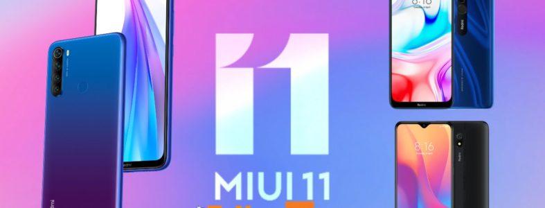 Redmi Note 8, Redmi 8 y Redmi 8A abren su fase de MIUI 11